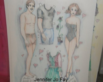 Evangelean and Gauthier Paper Doll Set