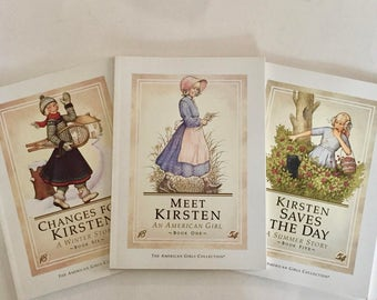 American Girl Doll Books / 3 American Girls Collection Books Changes for Kirsten, Kirsten Saves the Day, Meet Kirsten!