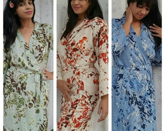 Splash Print Bridesmaid Robes bridesmaid gift Bridal Party gift Cotton Robe