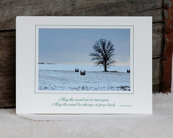 Five Assorted Greeting Cards, Custom, Recycled Paper, Soybean Ink,Fine Art Photo,Winter, Barb Lassa,
