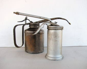 Oil Cans Vintage Eagle Oil Can Man Cave Industrial Decor