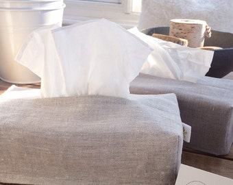 Linen Tissue Box Cover