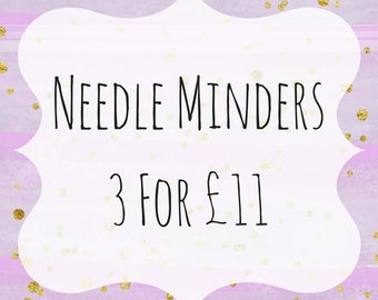 NEEDLE MINDER OFFER - 3 for 11 pounds - Shrinkie Needle Minders - Cross Stitch