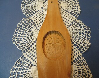 Primitive Carved Wood Design Butter Mold