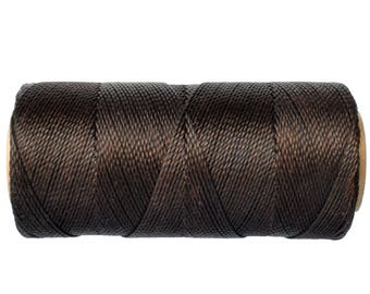Waxed Polyester Cord - 1 spool - Linhasita COR 667 - Macrame Cord - Jewelry Cord - Dark Brown