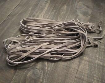 Grey Suede Lacing ~ 1/4 inch wide