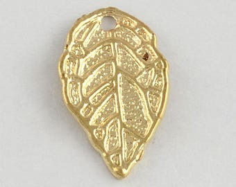 Leaf Charms Gold Leaf Charms Shiny Gold Charms Nature Charms Bulk Charms Wholesale Charms Bulk Pendants 100 pieces