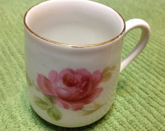 Antique Rose Mug Marked With Three Crown China Germany 1900s