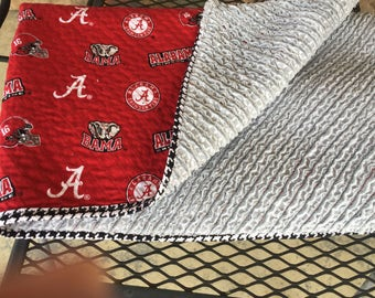 Alabama Faux Chenille Baby Quilt