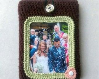Personalised crochet sleeves with custom photo for laptop, ipad, kindle, etc.