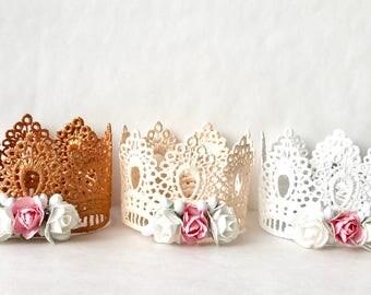 Lace Crown, Lace Crowns, Crown Shelf Decoration, Shelfie, Princess Crown