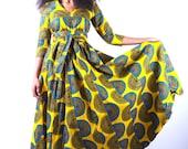 Angelitos Negros - Part I - Yellow African Ankara Wax Print Dress