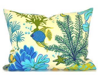 Outdoor Lumbar Pillow Cover Decorative Pillows Blue Pillow Mill Creek Outdoor Splish Splash Marina