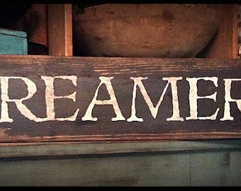 Grubby prim sign-CREAMERY