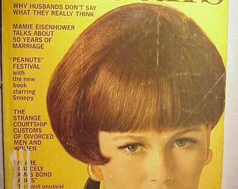 September 1966 McCall's Magazine with Maria Gudy on the cover By Otto Storch , has 186 pages of ads and articles