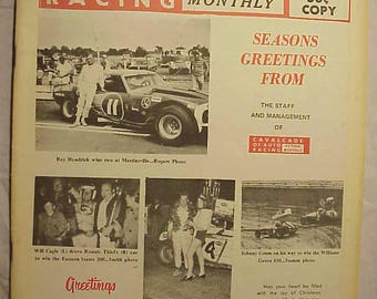 Dec.-Jan. 1970-1971 Cavalcade of Auto Racing Magazine Action Monthly , NASCAR Stock Car Racing Magazine with 48+ pages of Text & Pictures