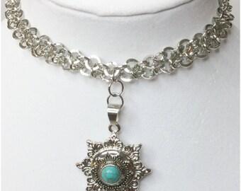 Blue Star Shape Snap Interchangeable Necklace