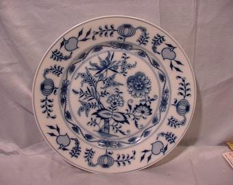 Vintage Flow Blue Dinner Size Plate Wonderful Floral Pattern
