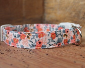 Spring Dog Collar - Peach Floral - Rifle Paper Co