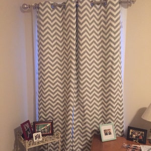 Grey And White Chevron Curtain Valance 50x14 Inches