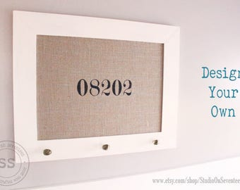 Large Burlap Cork Board-Custom Framed Cork Board-Design Your Own Distressed Message Board-Pin Board-Bulletin Board- 24x30 - Monogram