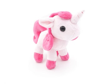 Pink Unicorn Plushie, Unicorn Stuffed Animal, Plush Toy, Softie