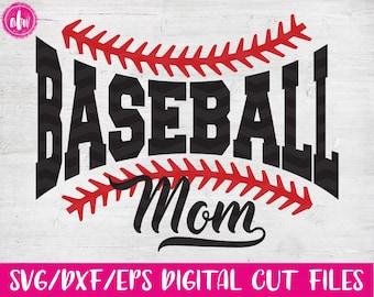 Baseball Mom, SVG, DXF, EPS, Cut File, Sports Mom, Spring, Summer, Family, Team, Laces, Dad, Ball, Vinyl, Silhouette, Cricut