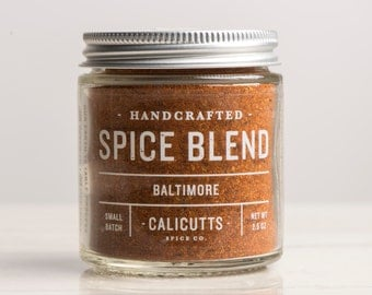 Baltimore - Handcrafted Spice Blend - 2.5 ounces in Glass Jar, All-Natural and Gluten Free