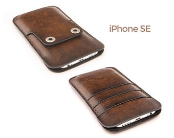 iPhone SE leather case - iPhone SE case - iPhone SE wallet