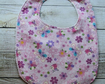 Clearance Sale***Pink Flower Bib