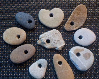 Natural Australian Drilled Beach Stones for Crafts