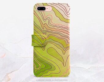 iPhone 7 Wallet Case iPhone 7 Plus Wallet Case Abstract iPhone 7 Folio Case iPhone 7 Plus Folio Case iPhone Faux Leather Wallet Case FC1