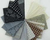 Blueberry Park Neutral Fat Quarter Bundle - Karen Lewis Textiles - Robert Kaufman - 15 Fat Quarters