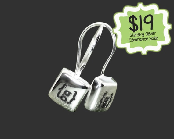 CLEARANCE SALE | Tiny Personalized 925 Sterling Silver Square Earrings | Gifts for Friends | Teen Gifts | Daughter Gifts | Korena Loves