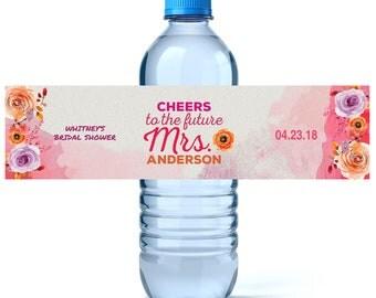 Wedding Water Labels - Wedding Favors - Custom Water Bottle Labels Wedding- Waterproof Labels - Wedding Water Bottles - Bridal Shower Water