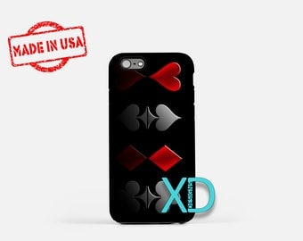 Suit Band iPhone Case, Poker Suits iPhone Case, Suit Band iPhone 8 Case, iPhone 6s Case, iPhone 7 Case, Phone Case, iPhone X Case, SE Case