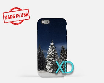 Pine Tree iPhone Case, Winter iPhone Case, Snowy Tree iPhone 8 Case, iPhone 6s Case, iPhone 7 Case, Phone Case, iPhone X Case, SE Case