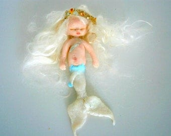mermaid one of a kind miniature  mermaid figure  mermaid sculpture