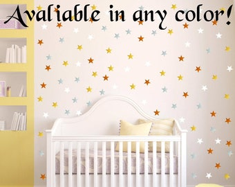 "40 Colors! 96 Peel and Stick 1"" Stars Wall Decals For Kids Rooms, Nursery Decor, Bedrooms, peel and stick dots"