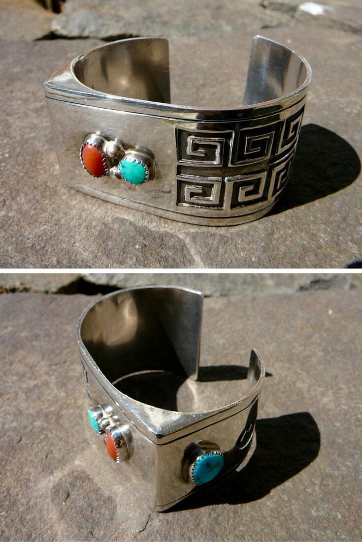 Navajo Turquoise Bracelet, Navajo Bracelet Vintage