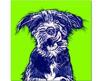 Pet portrait - Pop Art portrait with 2 / 3 colors - digital