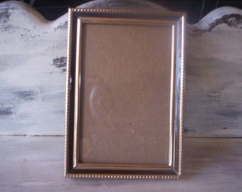 Keepsake/Metal and glass Frame/Small Picture frame/Brass metal and glass frame/6-1/8'' by 4-1/8'' Brass picture frame/Craft and art supply