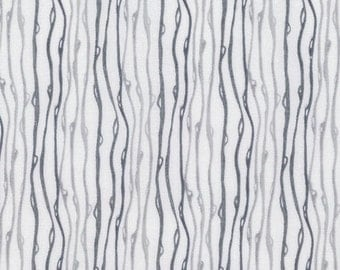 Raindrop by Shell Rummel Soft Repose Gray and White Fabric Stripe Fabric Curvy Lines Charcoal Gray Material