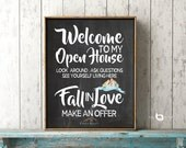 Realtor Open House Sign - House For Sale - Real Estate Welcome Sign - Fancy Realtor Sign - Open House