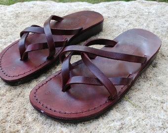 Leather Sandals, Leather Sandals Women, Sandals, Women's Shoes, CRISS CROSS, Flip Flops, Biblical Sandals, Jesus Sandals