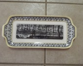 Cottage Chic Serving Tray Yellow and Black Home Decor