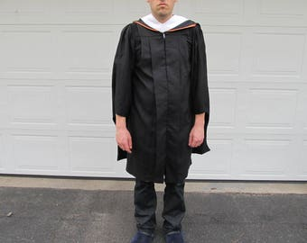 Vintage doctoral graduation gown with hood