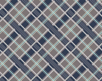 Groovin Printed Plaid Gray - Keep on Groovin Collection - Riley Blake Designs - C5244-GRAY (sold by the 1/2 yard)