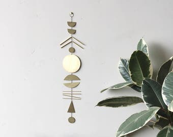 Brass Wall Hanging // made-to-order