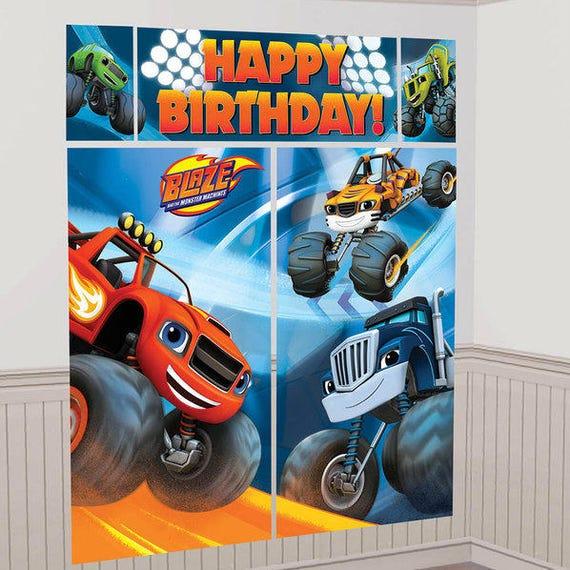 Blaze And The Monster Machine Happy Birthday Scene Setter